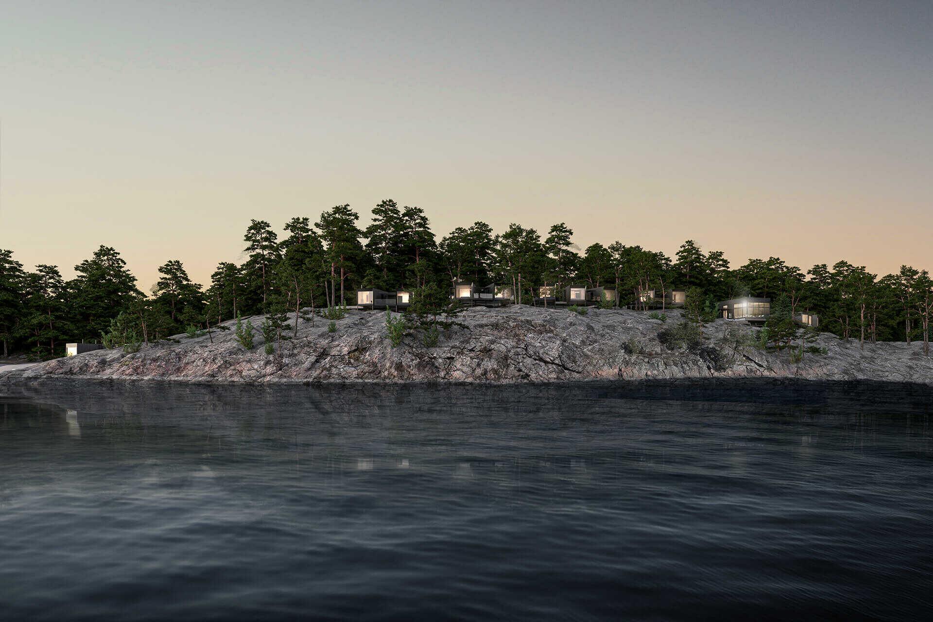 The Barö Hotellin huumaa saaristossa.  Kuva: The Barö.