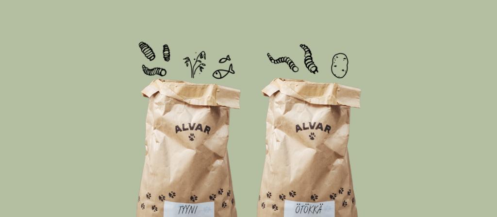 Hyönteispohjainen koiranruoka